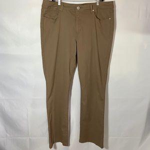 Bandolino Sheryl Baby Boot Cut Jeans Khaki 18